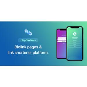 Gambar BioLinks Mirip linktr.ee - IG,TikTok BioLinks & URL Shortener (SAAS Ready) v5.5