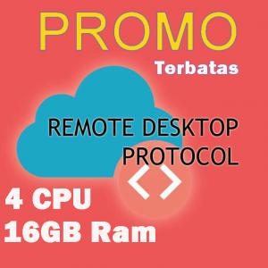 Gambar RDP 4 vCPU 16 GB RAM 250 GB SSD - PROMO TERBATAS !! Full Admin Access