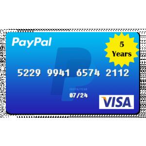 Gambar VCC Untuk Verifikasi Akun Paypal Durasi 5 Tahun