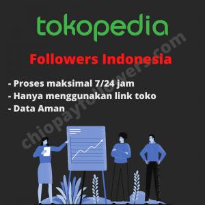 Gambar Jual Followers Tokopedia Best Seller Indonesia (Berkualitas/NonDrop)