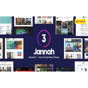Gambar Jannah Template Wordpress Magazine News AMP BuddyPress Terbaru Lifetime Update