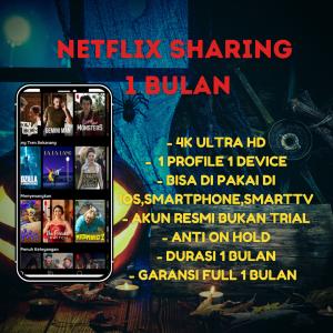 Gambar Netflix Sharing 1 Bulan bergaransi