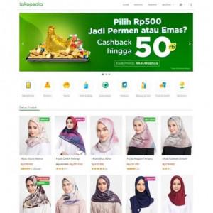 Gambar Template Blogger Toko Online Tokopedia