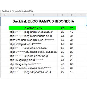 Gambar Jual 10 Backlink Kampus ac.id dofollow ++Bonus