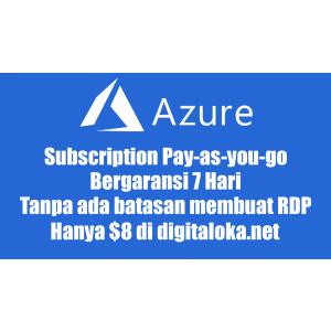 Gambar Akun Azure Pay-as-you-go