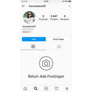 Gambar Jual Akun Instagram 2500 Followers Real Indonesia Termurah