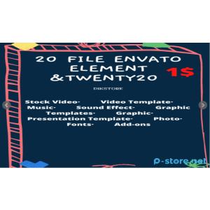 Gambar Pembelian 20 Produk di Envato Elements+Twenty20