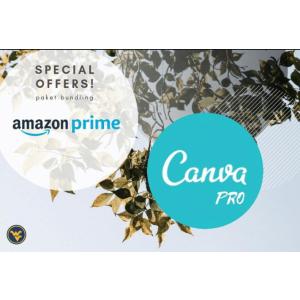 Gambar Akun Amazon Prime bonus Canva PRO 1 bulan | hemat berkualitas | termasuk garansi