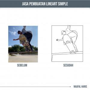 Gambar Jasa Pembuatan Lineart Simple