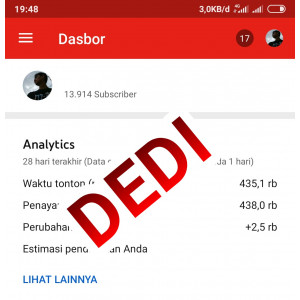 Gambar Channel Youtube Monet + Pin 13.900 Subscribe