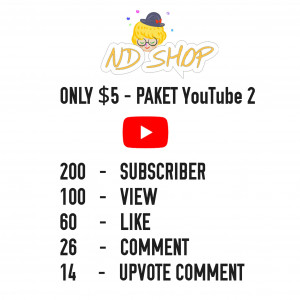 Gambar 200 SUBSCRIBER + 100 VIEW + 60 LIKE + 26 COMMENT + 14 UPVOTE COMMENT FOR YOUTUBE - REAL HUMAN