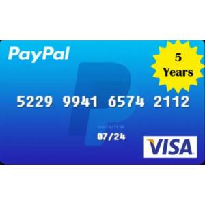 Gambar VCC untuk Verified Akun PayPal 5 Tahun Murah