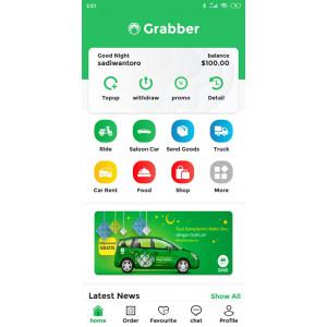 Gambar buat aplikasi gojek/grab lengkap layanan