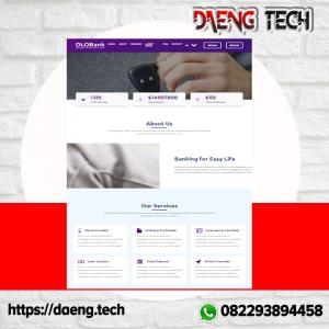 Gambar Website Perbankan Online Dengan DPS & Pinjaman