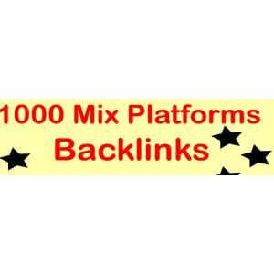 Gambar 1000 Backlinks mix/campur dari berbagai platform