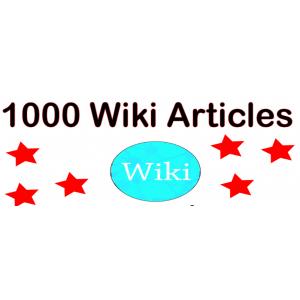 Gambar 1000 backlink Wiki Kontekstual high PR