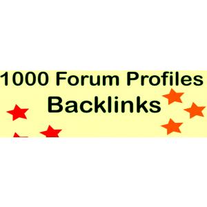 Gambar Membuatkan 1000 backlink profil forum HQ PR