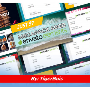 Gambar MegaPack 40GB ENVANTO ELEMENTS PREMIUM