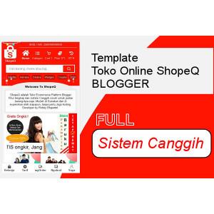 Gambar Template Shopee Toko Online Blogspot canggih