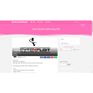 Gambar Template Premium Blogger Viomagz Pink Awesome